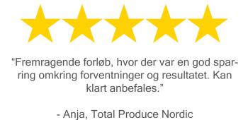 total produce nordic giver dronemanden 5 stjerner på trustpilot